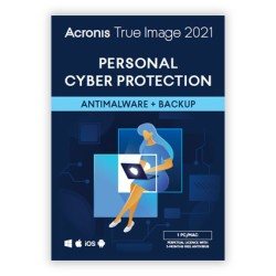 Local Backup: Acronis True Image 2021 1PC / MAC | One-time purchase | 3 months. antimalware protection