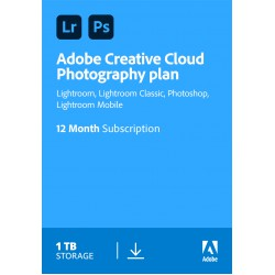 Fotobearbeitung: Adobe Photography Plan (Photoshop CC + Lightroom CC) | 1 Benutzer | 1 Jahr | 1 TB Cloudstorage