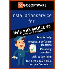 2Go Software installation package (price per 15 minutes)