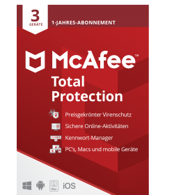 McAfee Total Protection Multi-Device 3 Geräte 1Jahr 2021