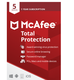 McAfee Total Protection Multi-Device 5Devices 1year 2021