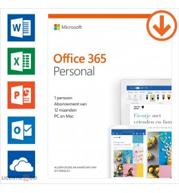 Office 365 Personal   1 User 1 year   Windows   Mac   Android   iOS   Updates included