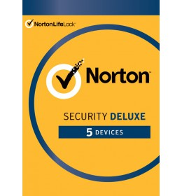 Norton Security Deluxe | 5-Devices | 1-Year | 2021 - Antivirus Included - Windows | Mac | Android | iOS