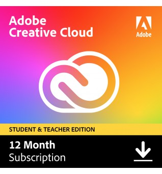 Adobe Software: Adobe Creative Cloud (alle apps) Student & Teacher edition | Subscription| 1Year | 100GB Cloud