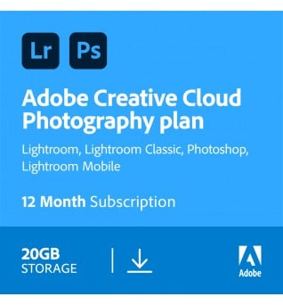 Adobe Photography Plan (Photoshop CC + Lightroom CC) | 1 Utente | 1 anno | 20GB cloudstorage
