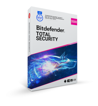 Bitdefender Total Security| 3 Devices - 1 year | Windows - Mac - Android - iOS