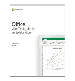 Microsoft Office Software: Microsoft Office 2019 Home & Business Windows + Mac