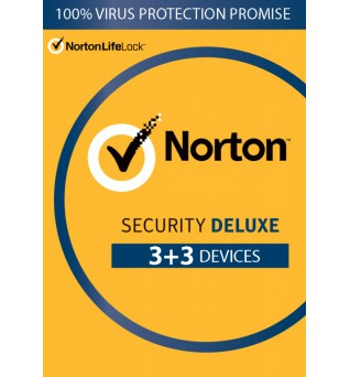 Total Protection Software: Norton Security Deluxe | 6-Devices | 1year 2021 | Antivirus Included | Windows | Mac | Android | iOs