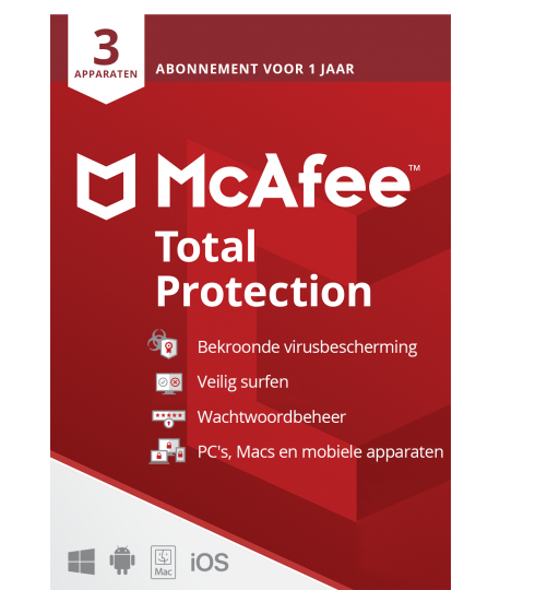 McAfee Total Protection Multi-Device 3 Geräte 1Jahr
