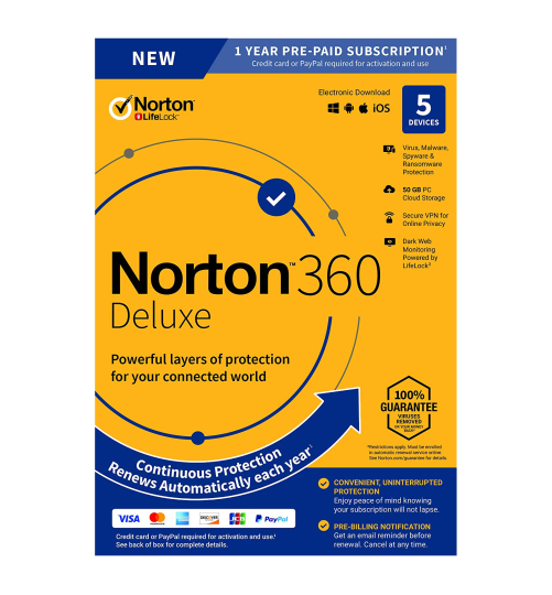 Norton 360 Deluxe | 5-Devices | 1-Year