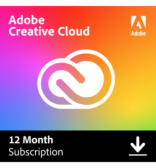 Adobe Software: Adobe Creative Cloud Individual (all apps) | Subscription | 1Year | 100GB Cloud