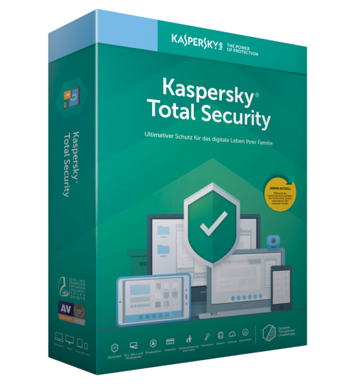 Total Protection Software: Kaspersky Total Security 3 Devices 1 year