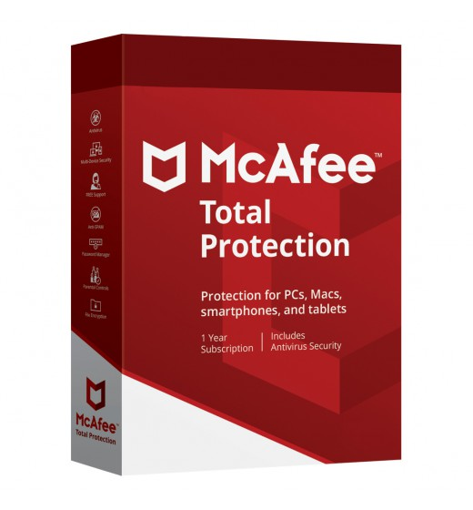 McAfee Total Protection  2021 10 Devices 1year