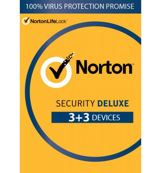 Securitysoftware: Norton Security Deluxe | 6-Devices | 1year 2021 | Antivirus Included | Windows | Mac | Android | iOs