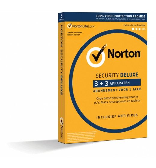 Antivirus Software: Norton Security Deluxe 6-Devices 1year 2021 -Antivirus Included- Windows | Mac | Android | iOs